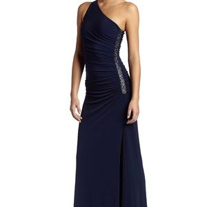 One Shoulder Beaded gown by LAUNDRY